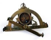 Early 19th century half-circle surveying  instrument with diopter and compass. Marked and signed Macquart Paris.
