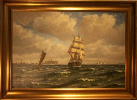 Antique Ship Paintings For Sale