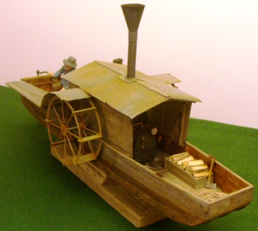 20th century built model depicting the 19th century paddle steamer SUMPADORIA, in use as a tug-boat between 1860-1930