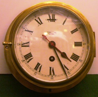 20th century English Smith-Astral ships`clock made in brass.