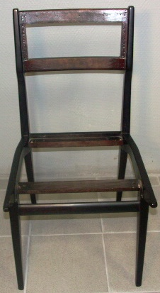Mahogany chair, undressed. 1960's.