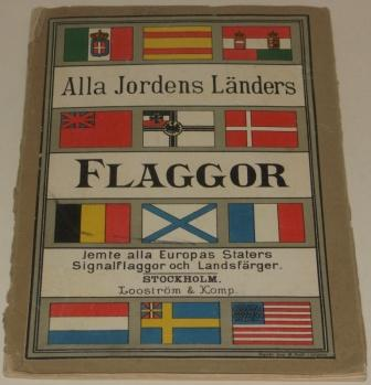 Late 19th century folding booklet containing nationality flags, signal flags etc.