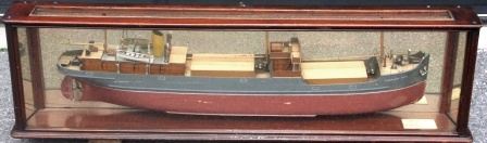 Early 20th century cased ship-builders mirror-back model of the S.S. DALEGARTH FORCE, built by Dundee Shipbuilding Co. Ltd. No 264.