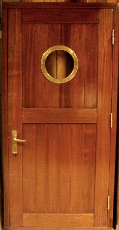 20th century mahogany ships door with brass fittings & Nautical Antiques u0026 Collectables