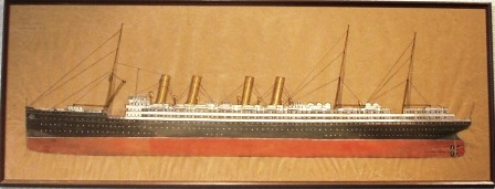 Depicting the German passenger liner KAISER WILHELM II Norddeutscher Lloyd - Bremen