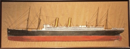 Depicting the German passenger liner GEORG WASHINGTON Norddeutscher Lloyd - Bremen