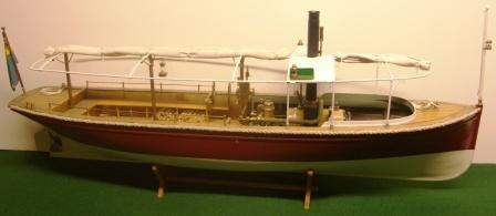 20th century built model depicting the 19th century steamboat ferry FANNY