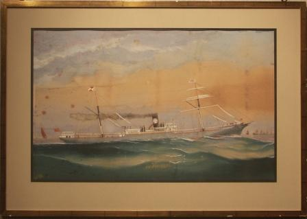 Depicting the British steam-freighter S/S FLORENCE