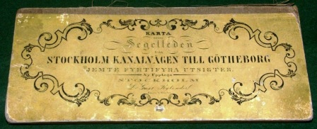 "Illustrated 19th century booklet including 44 documentary views along the ""Göta Kanal"", the waterway between the east and west coast of Sweden (Stockholm to Gothenburg)"