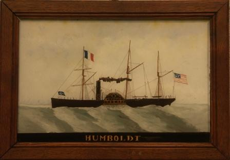 The American paddle-steamer HUMBOLDT heading for France