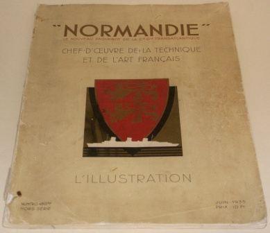 Le Paquebot NORMANDIE of the French Line/Cie Générale Transatlantique. Rich in illustrations and incl documentary facts.