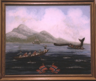 Depicting Norwegian whaling scenery