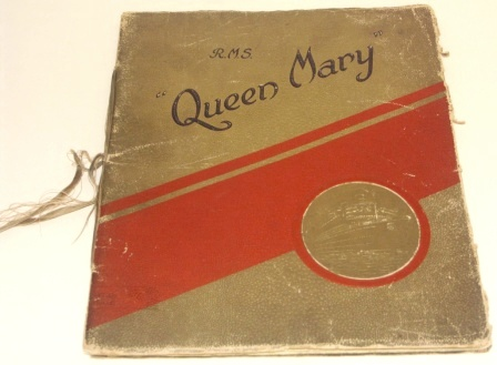 "R.M.S. QUEEN MARY. Cunard White Star publication with large illustrations and ""a noble tribute to the imagination of man."""