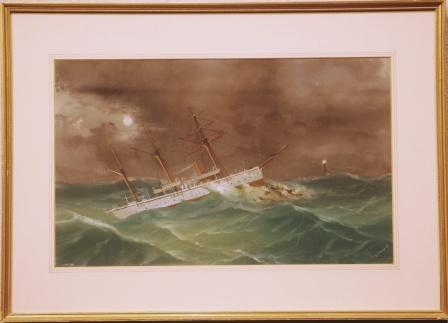 The British yacht STARLING run aground in heavy sea