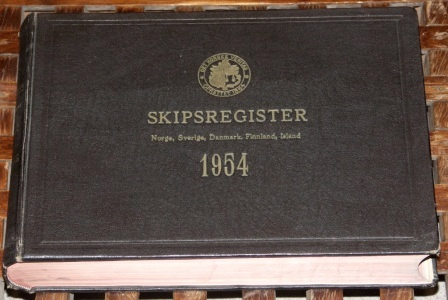 """Det Norske Veritas"" register of ships. A number of volumes dated between 1954-71"